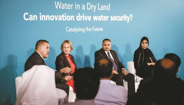 The panellists discussing the topic of 'Water in a dry land'.