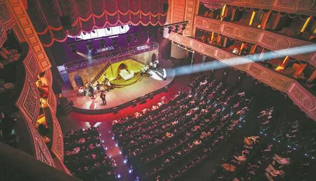 The opening night of Broken Wings witnessed a full house with front rows of VIPs, who applauded and
