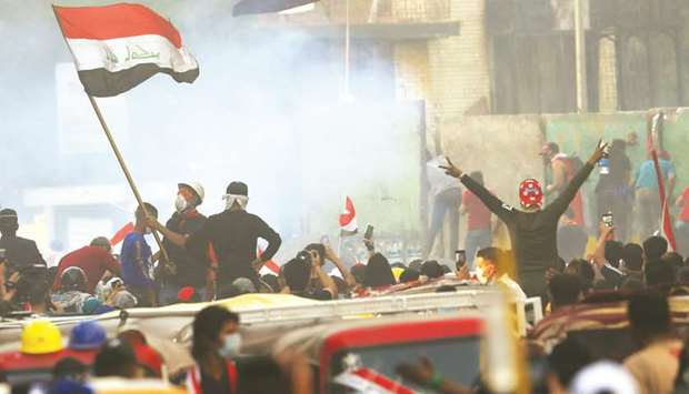 Iraqi demonstrators