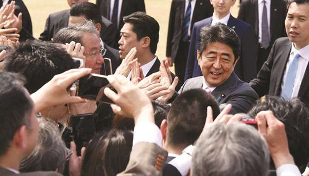 Prime Minister Shinzo Abe: bleak days ahead.