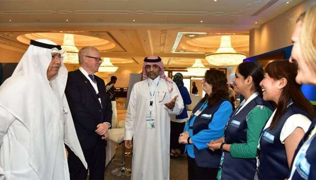 Nasser al-Naimi was joined at Qatar's first Patient Experience Forum by five of the first ambassador