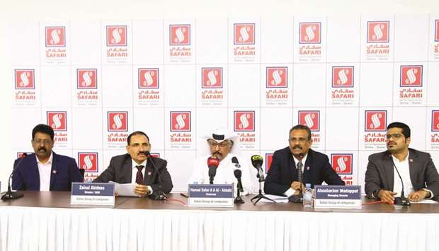 Safari Group officials at the press conference yesterday. PICTURE: Jayan Orma