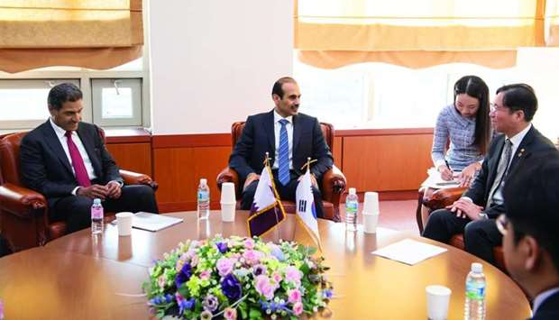 Al-Kaabi meets with South Korean energy minister, top executives