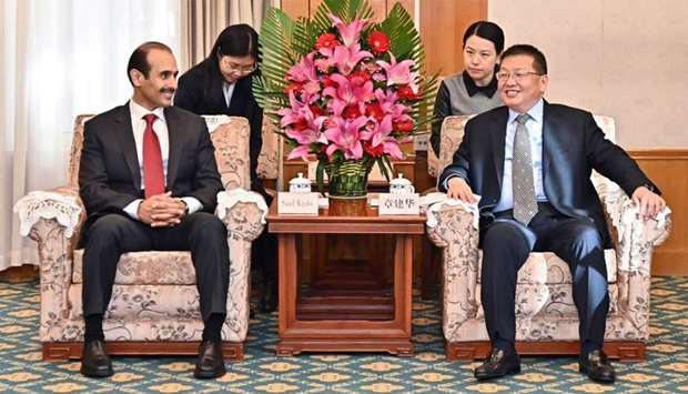 HE the Minister of State for Energy Affairs Saad bin Sherida al-Kaabi met with Zhang Jianhua, direct
