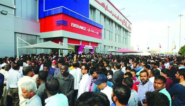 A large crowd turned up at the hypermarket on Wednesday. Supplied picture