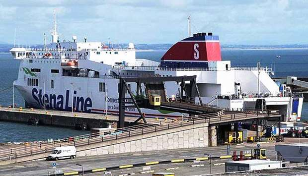 16 people are found in a sealed trailer on a Stena Line ferry