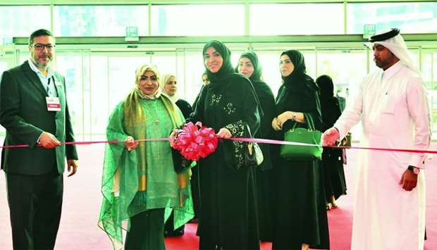 Ibtihaj al-Ahmadani and Basima Youssef al-Dheim led the ribbon-cutting ceremony of the International