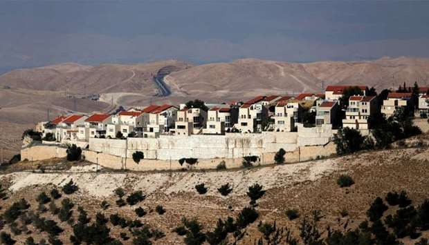 A general view of the Israeli settlement of Maale Adumim in the occupied West Bank