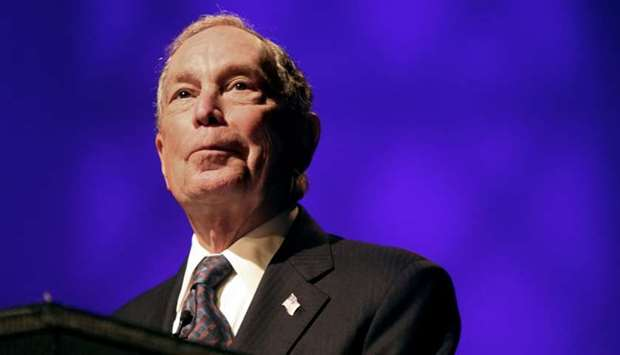Michael Bloomberg speaks at the Christian Cultural Center in New York City on November 17