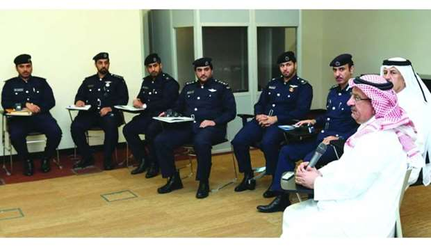 Officers at a session held at the Ministry of Interior.