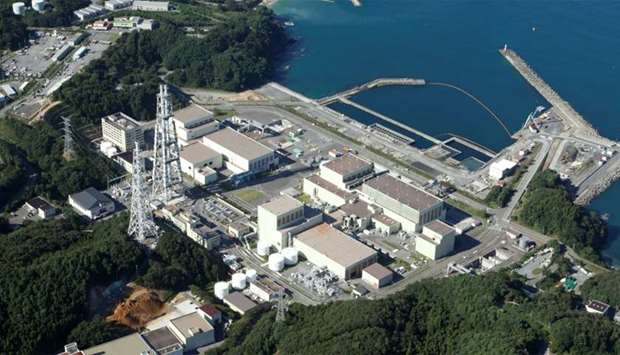 Tohoku Power Electric Co.'s Onagawa Nuclear Power Plant is seen in Onagawa town