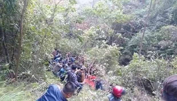 Nepal bus plunges into gorge