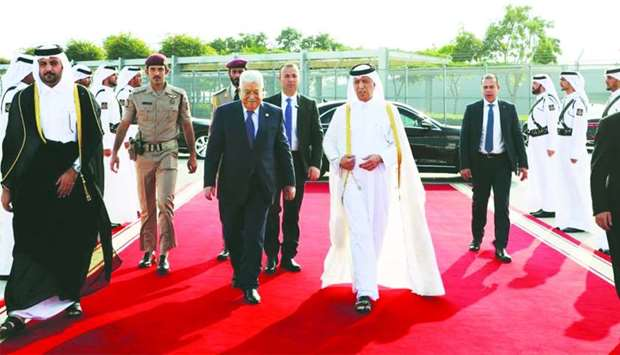 Palestinian president leaves Doha