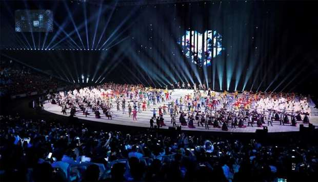 General view during the opening ceremony