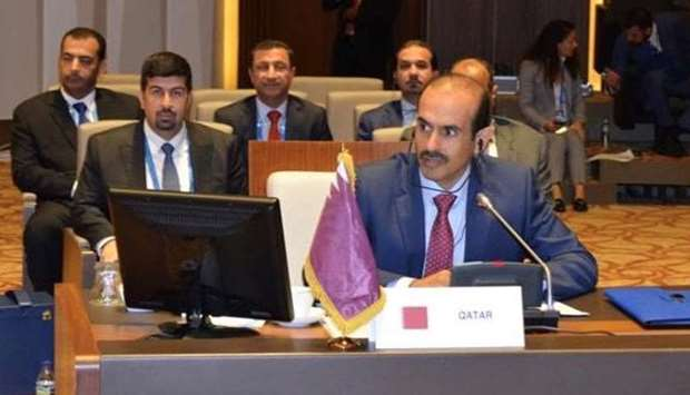 HE al-Kaabi addressing the 5th Summit of the Heads of State and Government of the Gas Exporting Coun