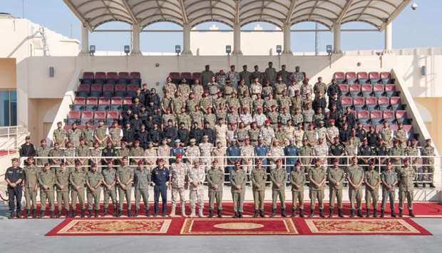 Amiri Guard concludes first part of training season