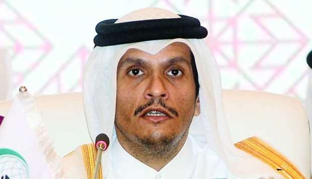 HE the Deputy Prime Minister and Minister of Foreign Affairs Sheikh Mohamed bin Abdulrahman al-Thani