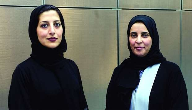 WISE Officials Dr Ameena Hussain and Dr Asmaa al-Fadala. PCITURE: Shemeer Rasheed