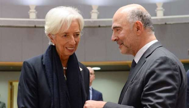 President-designate of the European Central Bank,Christine Lagarde and Financial Affairs Commissione