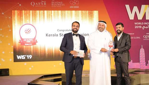 "Kerala Startup Mission was recognised as the ""World's Top Public Business Accelerator"" by UBI Global"
