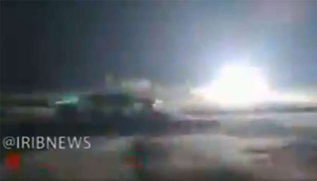 Interception of  drone by Iranian anti-missile battery