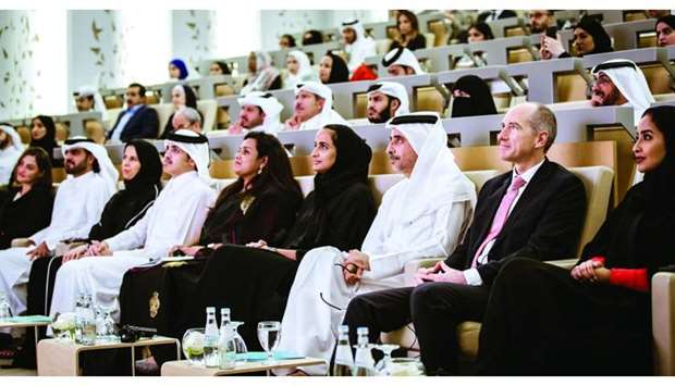 HE Sheikha Hind bint Hamad al-Thani, vice chairperson and CEO of Qatar Foundation and other dignitar