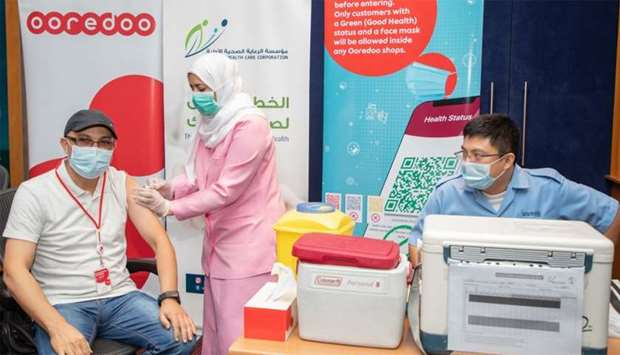 Ooredoo holds flu vaccination for staff