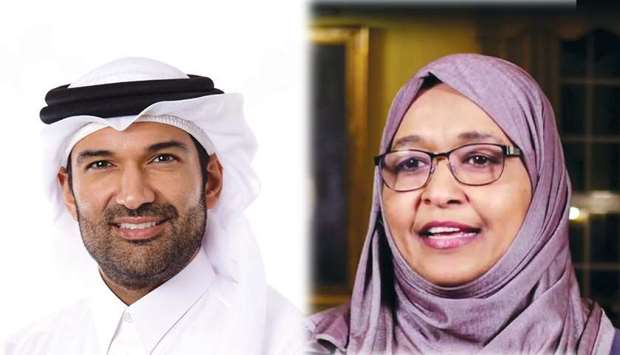 Dr Khalid Fakhro and Dr Amel Hassan.
