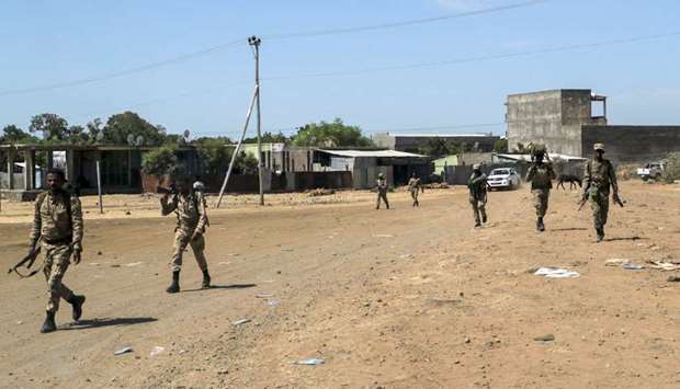 :Members of the Amhara Special Force return to the Dansha Mechanized 5th division Military base afte
