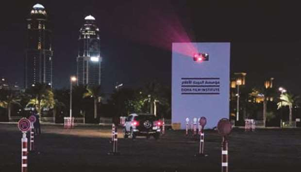 Ajyal Film Festival Drive-In Cinema at Lusail in partnership with QNTC.