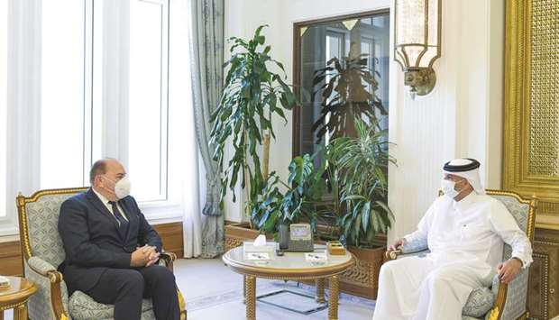 HE the Prime Minister and Minister of Interior Sheikh Khalid bin Khalifa bin Abdulaziz al-Thani met