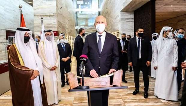 Tunisian President praises Qatar National Library's collections