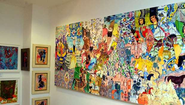 Exhibition of paintings titled 'Melody of Art' at Katara Cultural Village