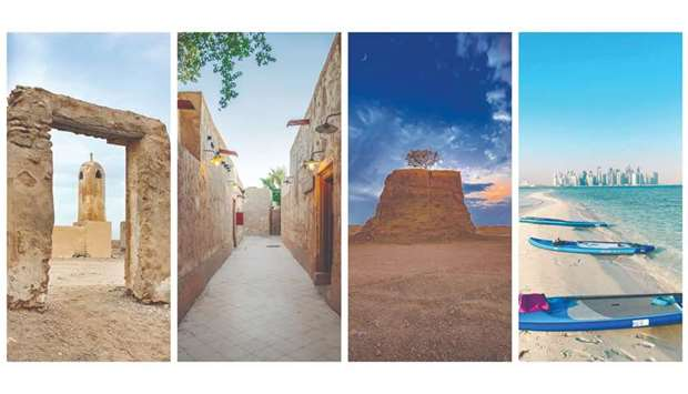From left: Al Jumayl, Souq Al Wakra, Umm Bab and Al Safliya Island (pictures from VisitQatar's Insta