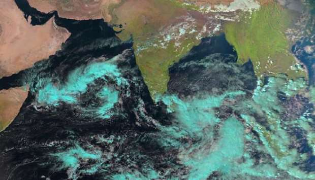 formation of a tropical depression in the southwest of the Arabian Sea
