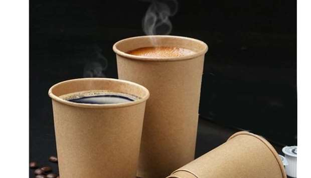 Hot beverages in paper cups