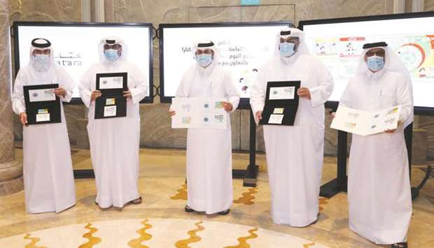 Officials launched the postage stamps on Sunday.
