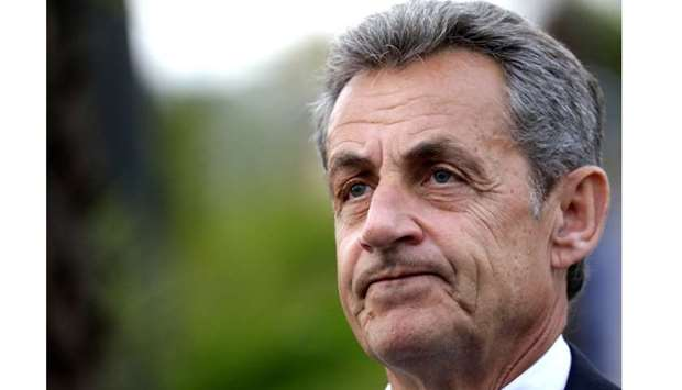 Former French President Nicolas Sarkozy is pictured during a visit in Nice, France, January 13