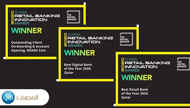 QIB wins 3 awards at 'The Digital Banker's Global Retail Banking Innovation Awards 2020'