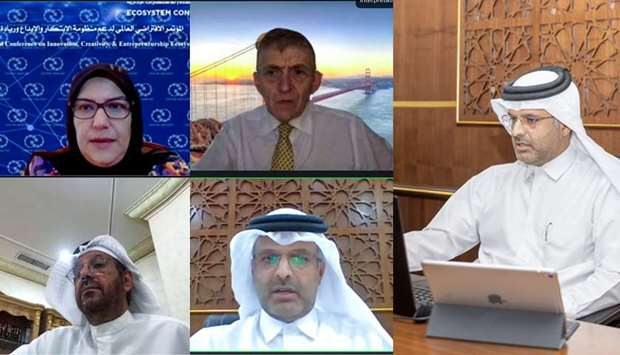 Qicca board member for International Relations Sheikh Dr Thani bin Ali al-Thani joins other members