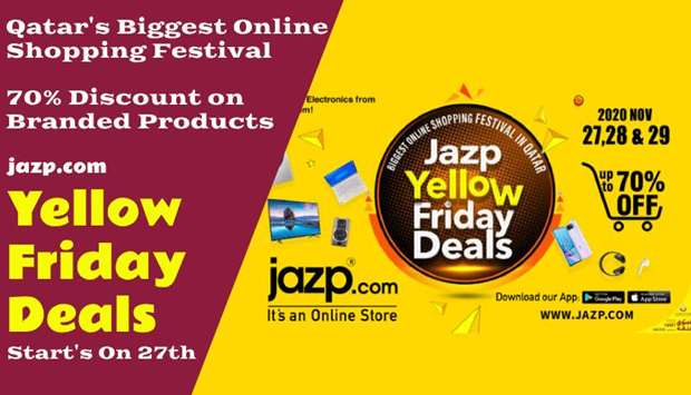 "Jazp.com ""Yellow Friday Deals""; Upto 70% Discount on Mobiles, Laptops and TV"