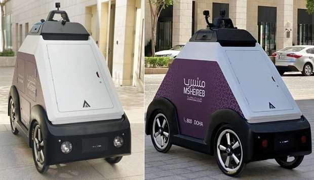 An autonomous vehicle undergoing trials at Msheireb Downtown Doha