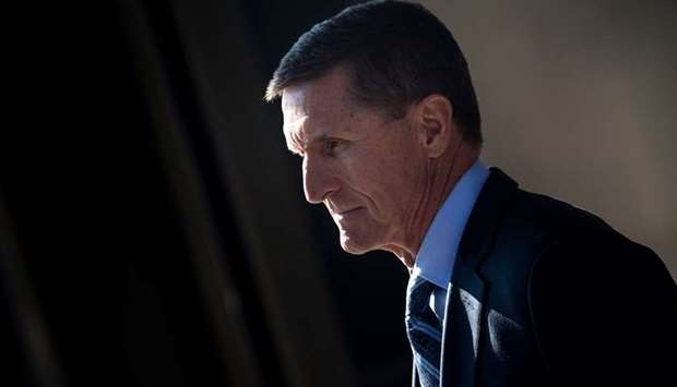 Gen. Michael Flynn, former national security adviser to US President Donald Trump, leaves Federal Co