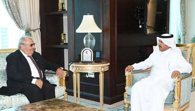 HE the Secretary General of the Ministry of Foreign Affairs Dr. Ahmed bin Hassan Al Hammadi meets wi