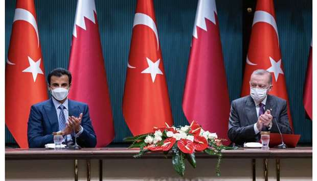 HH the Amir and Turkish President Tayyip Erdogan.