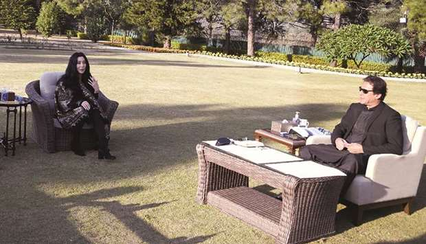 This photograph taken and released by Pakistan's Press Information Department (PID) yesterday shows