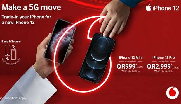 Exchange old iPhone for new iPhone 12 with Vodafone Trade-in Programme