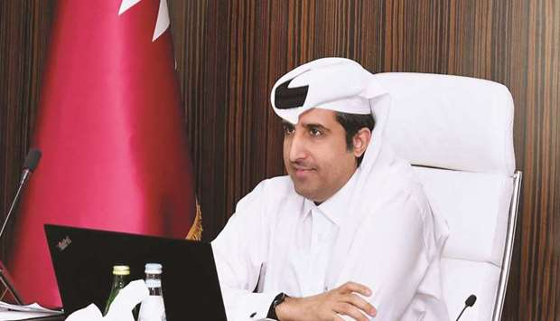 Qatar Chamber general manager Saleh bin Hamad al-Sharqi recently took part in a virtual meeting of t