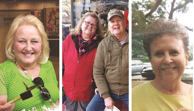 UNSUNG: From the left: Sheena Miles; Sonia Brown and her husband, Ronald Brown; and Nancy MacDonald.