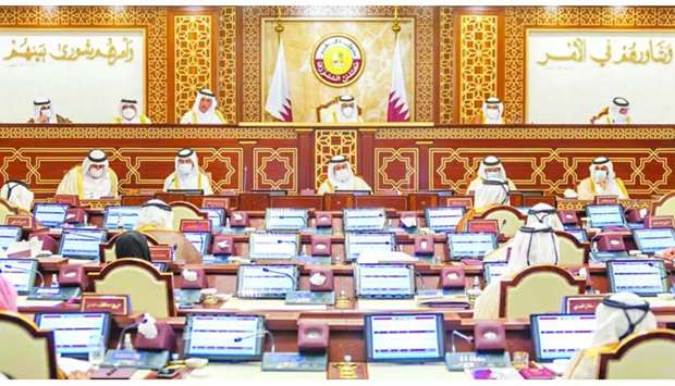 The Shura Council held its regular weekly session Monday